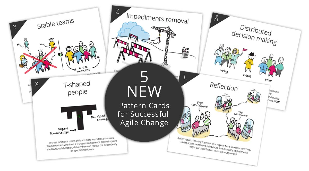 Free Pattern cards for Agile Change - 5 new